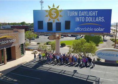 Affordable Solar Billboard